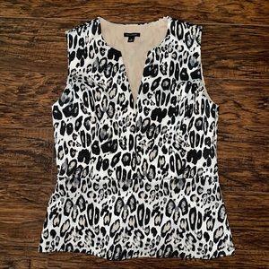 Ann Taylor Animal Leopard Cheetah Print Peplum